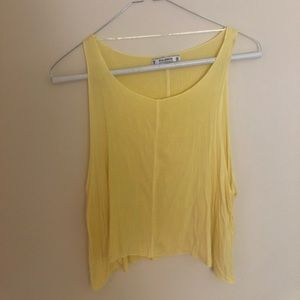 Pull & Bear Yellow Tank Top Size Small